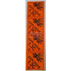 1.3C Explosive Diamond Stickers (set of 4)