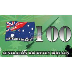 100 Australian Rocketry Dollars