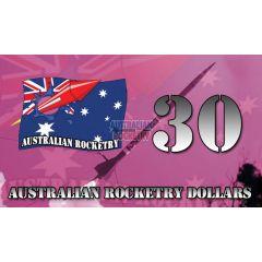 30 Australian Rocketry Dollars