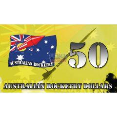 50 Australian Rocketry Dollars
