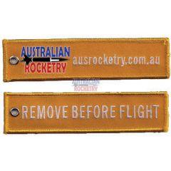 Remove Before Flight tag (Orange)
