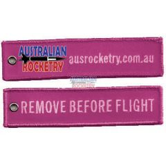 Remove Before Flight tag (Pink)