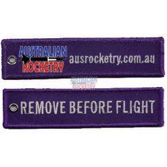 Remove Before Flight tag (Purple)